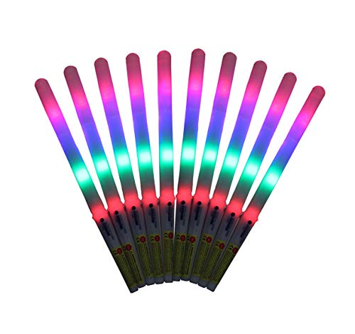 - 8 Function LED Cotton Candy Glo Cones-Pack Of 10