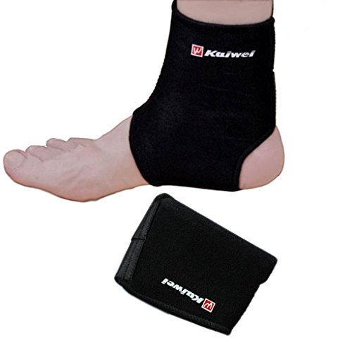 COOLOMG Black Neoprene Ankle Brace Support Pad Guard MMA Achilles Tendon Sports Strap Foot