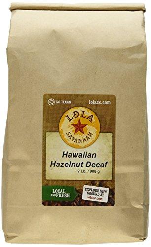 Lola Savannah Hawaiian Hazelnut Ground Coffee - A Cup of Tropical Paradise | Arabica Beans Roasted with Mild Hazelnut & Coconut | Decaf | 2lb - Decaffeinated Hazelnut Coffee