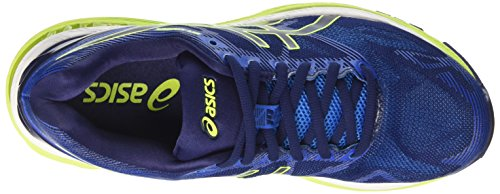 Asics Gel-Nimbus 19, Zapatillas de Entrenamiento para Hombre Azul (Indigo Blue/safety Yellow/electric Blue)