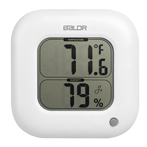 - BALDR Thermo Square Thermometer and Hygrometer, White - TH0323WH1