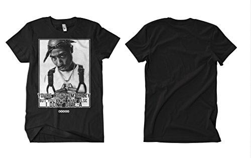 2 Pac Crazy T-Shirt Schwarz