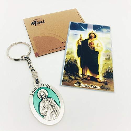 St Jude Thaddeus Keychain with prayer card ... - Amazon.com