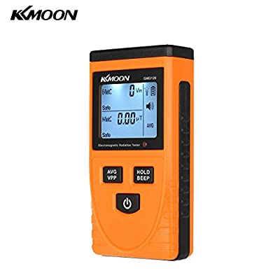 KKmoon Digital LCD Electromagnetic Radiation Detector Dosimeter Tester EMF Meter Counter