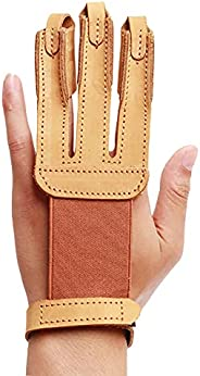 OBTOUTDOOR Archery 3 Finger Glove for Women Youth Right and Left Hand Protective Gear Accessories