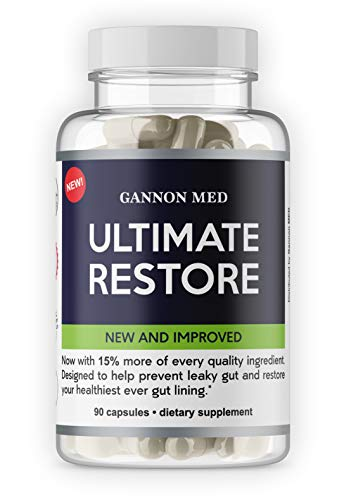 Ultimate Restore – Maximum Leaky Gut Relief – Total Restore of Prebiotics & Probiotics for Gut Health, Bloating Relief, and Leaky Gut Repair Supplements – Revive and Restore Gut Health