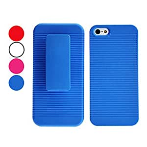Stripe Design Hard Case with Belt Clip for iPhone 5/5S (Assorted Colors) --- COLOR:White