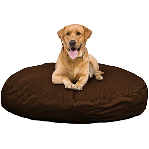 Ultimate Sack Dog Beds: Giant Foam-Filled Dog Bed - Machine Washable Covers, Double Stitched Seams, Durable Inner Liner, and 100% Virgin Foam. Bean Bag Dog Bed. (Brown, Large) by Ultimate Sack