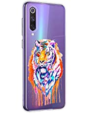 Oihxse Compatible con Xiaomi Mi Mix 2 Funda Suave Gel TPU Silicona Cristal Transparente Carcasa Acuarela Animal Pintado Patrón Protectora Estuche Bumper Caso Case (B7)
