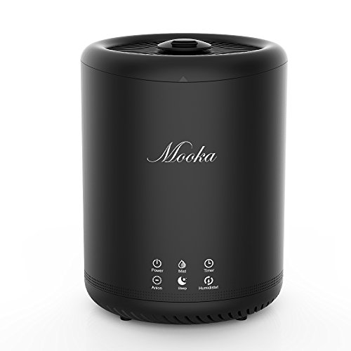 Price comparison product image Mooka Air Humidifiers,  Ultrasonic Cool Mist Humidifiers With 4L Large Capacity,  Touch Button Control,  Sleep Mode,  Timers,  Ajustable Mist Level for Large room,  Baby Room