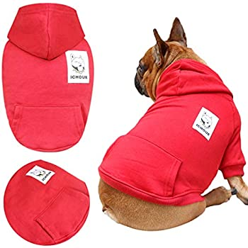 Amazon.com : iChoue Pets Dog Clothes Hoodie Hooded French