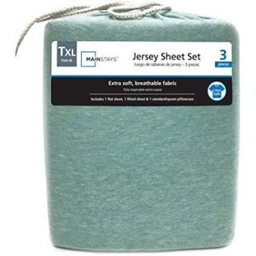 Mainstays Jersey Knit Sheet Set Mint Heather, - Jersey Knit Sheet Queen