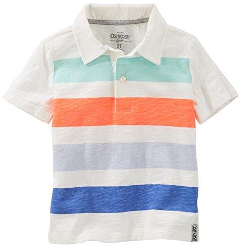 OshKosh B'Gosh Boys' Knit Polo Henley 21988014, Stripe (984) 4T