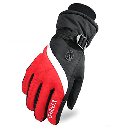 Ski Gloves,LingAo Waterproof Windproof Winter gloves for Men and Women,Winter Warm Snowboard Snowmobile Gloves,Snowboarding and Cycling (Medium, - Returns Free