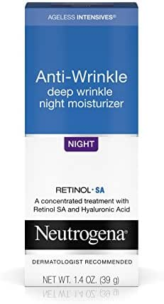 Neutrogena Ageless Intensives Anti-Wrinkle Deep Wrinkle Night Facial Moisturizer with Retinol and Hyaluronic Acid to Hydrate Skin and Fight Signs of Aging 1.4 oz