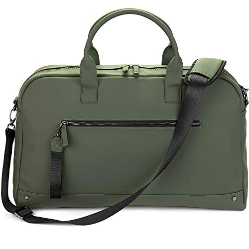 The Friendly Swede Weekender Bag, Duffle Overnight Bag - High-end Vreta Collection - 35L Travel Duffel, Weekend Bag For Women and Men (Green)