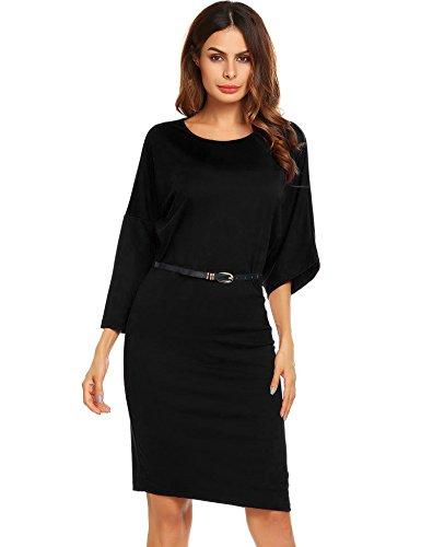 Zeagoo Astuccio 3 Vestito Black Donna Wv1xW