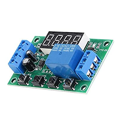 Timer Relay,5V 12V 24V Programmable Multifunction Time Delay Relay Module with Display for Solenoid Valve Water Pump Motor Light Strip(#2): Automotive