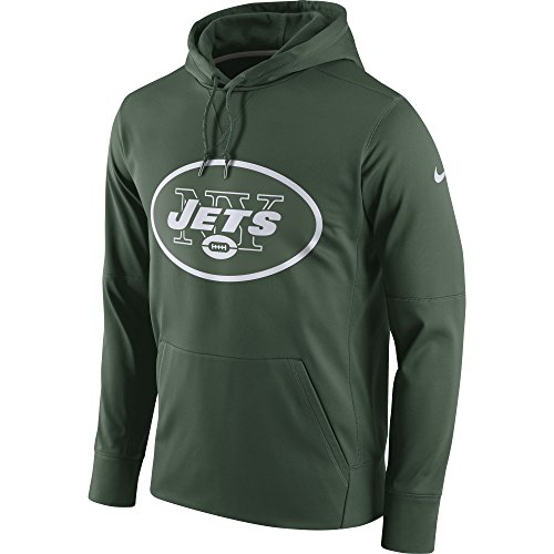 NIKE Men's New York Jets Logo Essential Hoodie Green/White Size X-Large