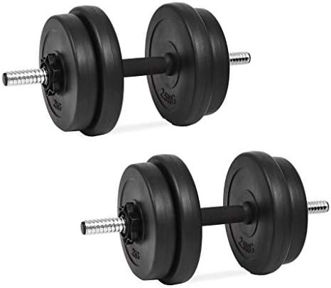 Tidyard Set de Mancuerna 14 Piezas 20 kg Entrenar Pecho,Bíceps,Brazos,Tríceps y Músculos de Espalda: Amazon.es: Hogar