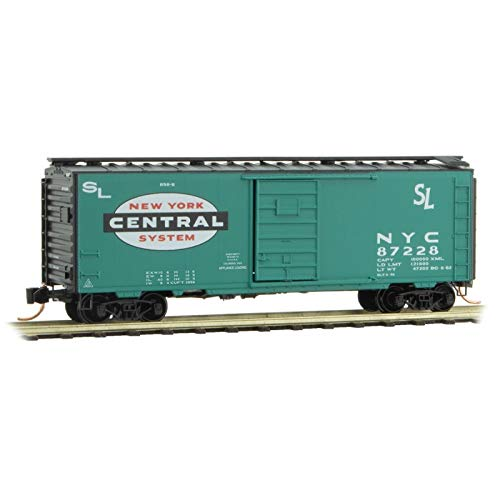 Micro-Trains MTL N-Scale 40ft Single Door Box Car New York Central/NYC #87228