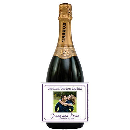 Photo Wedding Bottle Labels, Personalized, Self-Adhesive (set of 24)(L363) ()