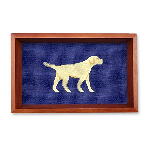 (Yellow Lab Needlepoint Valet Tray by Smathers & Branson)