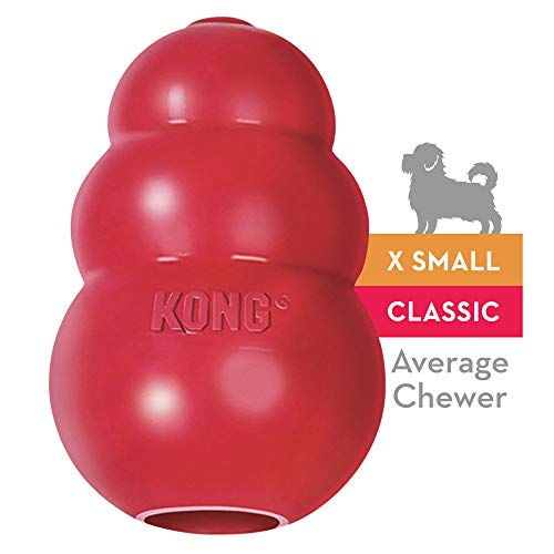 KONG - Classic Dog Toy - Durable Natural Rubber -...