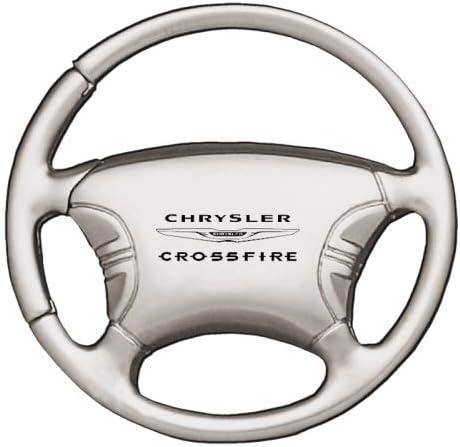 Chrysler Crossfire Steering Wheel Chrome Keychain
