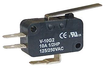 Microswitch conexión rápida botón 15 A SNAP ACCIÓN SPDT