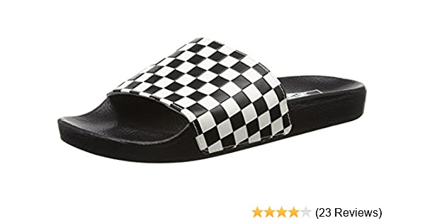 amazon com vans mens slide on checker sandals