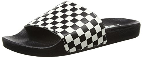 Noir White Vans Basses Homme Baskets on Slide Checkerboard nXCvXq0w