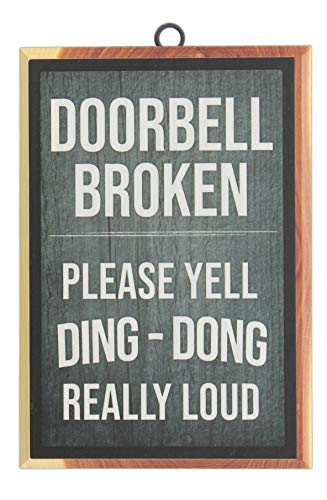 Funny Door Signs - Blair Cedar 7.25