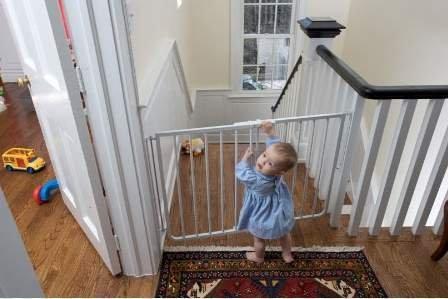 Cardinal Gates Stairway Angle Baby Gate 27''-41.5'', White
