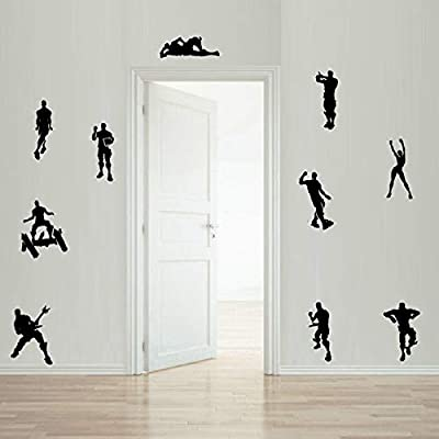 YOUSAN Game Wall Decal Poster Dancing Wall Stickers for Kids Bedroom Wall Vinyl Decal Game Stickers (Black)(13.8