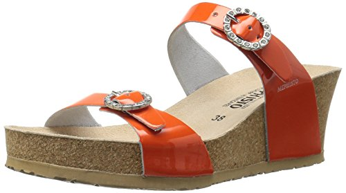 Mephisto Women's Lidia Platform Dress Sandal - Orange Pat...