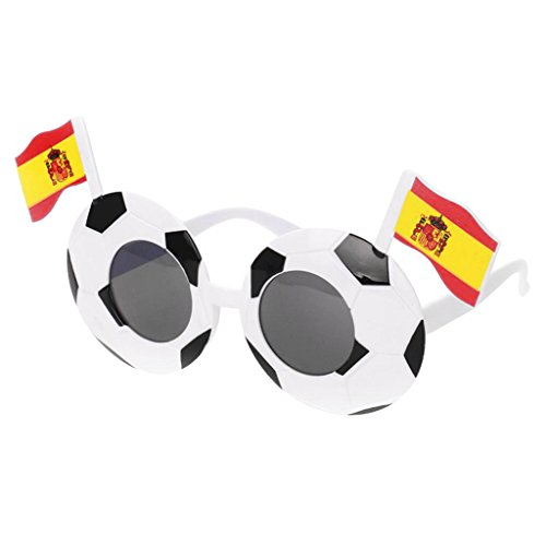 Homyl Funny Football Soccer Shape Sunglasses Photo Props 2018 Party Glasses Goggles National Flag Decoration - Spain -