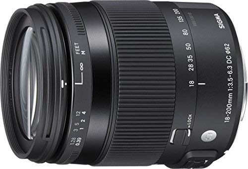 Sigma 18-200mm F3.5-6.3 Contemporary DC Macro OS HSM Lens for Canon (Certified Refurbished)