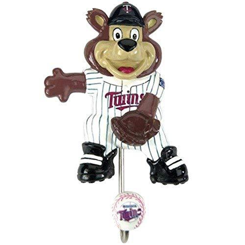 SC Sports MLB Minnesota Twins Mascot Polyresin Wall Hook Metal Hooks Hand Painted 7 Inches Set of - Minnesota Mascot Twins