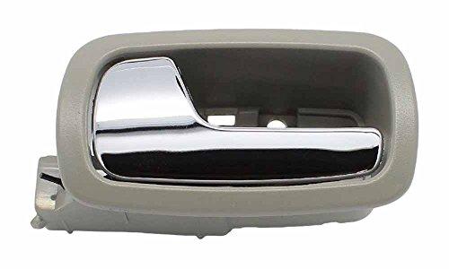 Chevy Cobalt 05-10 Pontiac G5 07-09 Front Inner Driver GRAY & CHROME Door Handle