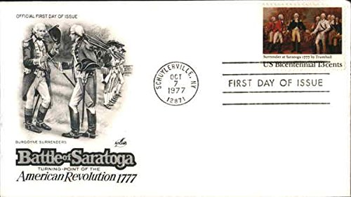 battle of saratoga turning point of the american revolution 1777 original first day cover