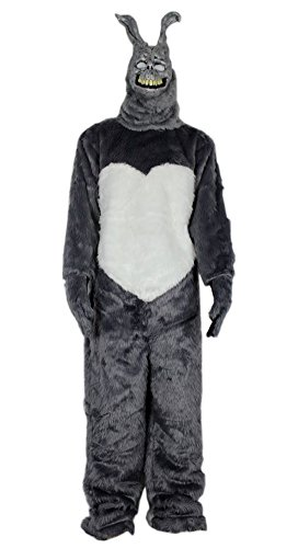 [Donnie Darko Frank the Bunny Adult Costume Fancy Dress Mask Jumpsuit Faux Fur (M)] (Donnie Darko Frank The Bunny Mask)