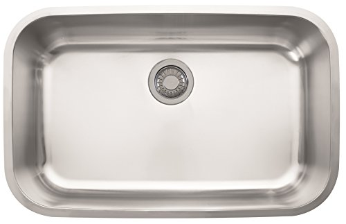 Franke OAX110 Oceania 29 15/16' x 18 15/16' x 8 7/8' 18 Gauge Undermount Single Bowl Stainless Steel Kitchen Sink