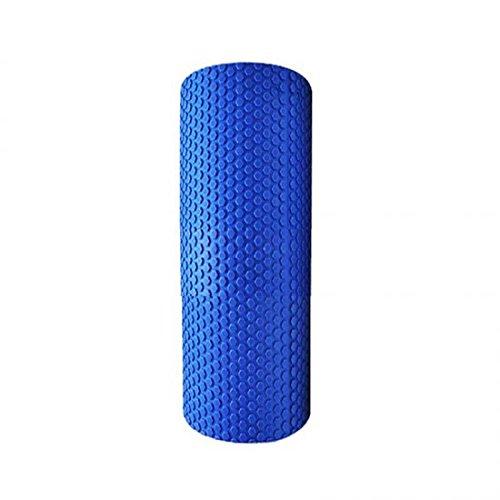 Denshine Yoga Pilates Fitness Gym de massage Rouleau de mousse haute densité à virgule flottante en mousse EVA Bleu 30cm*15cm Aident à réduire les Adipose