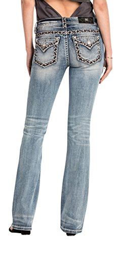 Miss Me Midnight Hour Mid-Rise Womens Bootcut Jeans-Available in Extended Sizes 32,33,34 (32) from Miss Me