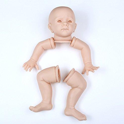 Funny House 24インチ60 cm未塗装ソフトビニールReborn人形キットヘッドと3 / 4手足for Making新生児赤ちゃん   B07BF8TK8F