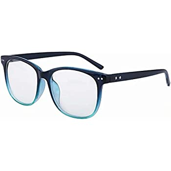 bbd5d83043 Lightweight Bifocal Reading Glasses +1.25 Strength D Shape Bifocals Mens  Womens Readers Blue Frames Spectacles