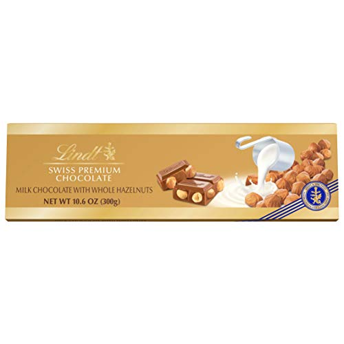 - Lindt Swiss Classic Gold Milk Chocolate Hazelnut Bar, 10.6 Ounce (Pack of 5) (packaging may vary)