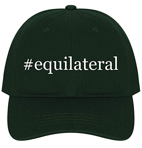 The Town Butler #Equilateral - A Nice Comfortable Adjustable Hashtag Dad Hat Cap, Forest, One Size