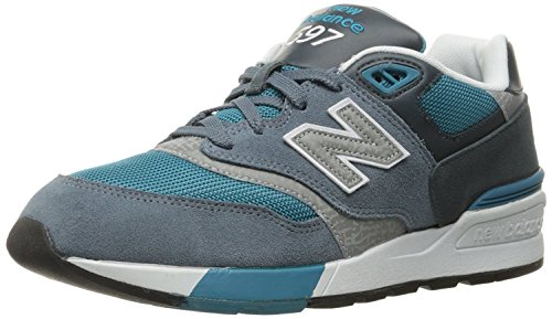 New Balance MenS ML597Modern Classics Fashion Sneaker, Harbor Blue/Orca/Dark Cyan, 45 EU/10.5 UK